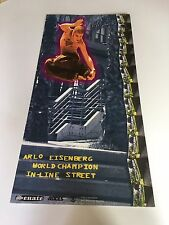 ORIGINAL ARLO EISENBERG WORLD CHAMPION IN-LINE STREET POSTER -no signature
