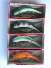 (4) Lazy Ike Fishing Lures Nib, Kl-36 Frog, Kl-32 Sc, Kl-34 Shad, Kl-37 Or