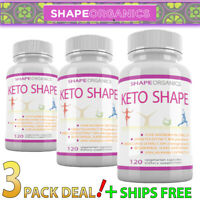 3X KETO SHAPE Best Pills Weight Loss Supplements to Burn Fat Fast Boost Energy