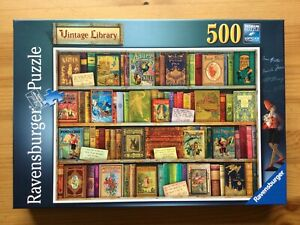 RAVENSBURGER - 500 piece jigsaw - VINTAGE LIBRARY - complete