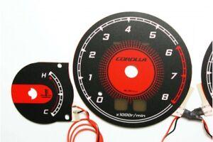Toyota Corolla E10 design 1 glow gauge plasma dials tachoscheibe glow shift indi
