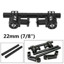 "Black CNC Aluminum 7/8"" 22mm Motorcycle Adjustable Removable Steering Handlebar"