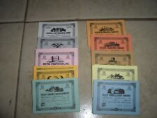 AVALON HILL GAME STOCKS AND BONDS CERTIFICATES