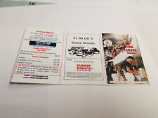 Pawtucket Red Sox 1998 Minor Baseball Pocket Schedule - Dunkin' Donuts