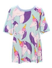 t-53 Helado fairy unicorn caballo azul multicolor Camiseta pastel goth Lolita