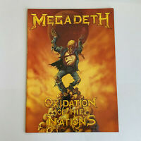 MEGADETH OXIDATION OF THE NATION TOUR 1991 24 PAGE TOUR PROGRAMME