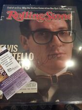 Elvis Costello Signed Rolling Stone Cover JSA Authenticated Attractions COA Real