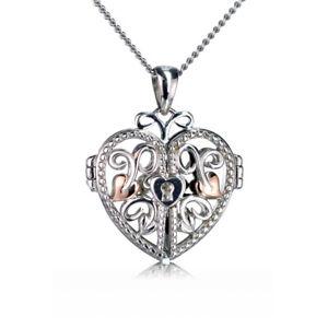 Clogau Pendant Heart Locket Silver Welsh Rose Gold Kensington XX3SKHLL2