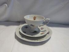 3 Teiliges Sammeltassen Set Porzellanmanufraktur Plaue 1817 / Kaffeegedeck