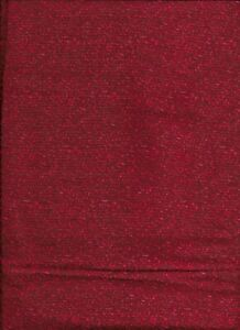 New Packed Red Flowers on Dark Red 100% Cotton Fabric by the 1/4 yard