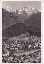 Interlaken Aerial View Switzerland Postcard Unused VGC
