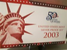 2003-S SILVER PROOF SET  BOX & COA