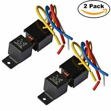 2 Pack 12V Car Realy 80A 5Pin SPDT Automotive Harness AMP w/Socket Power Starter