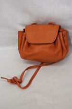 """Vintage NEIMAN MARCUS Orange Leather """"Pouch Purse"""", Fully Lined, Italy-B50"""