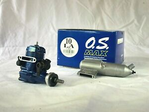 OS Max 10LA Blue 2 stroke RC model glow  engine + Muffler