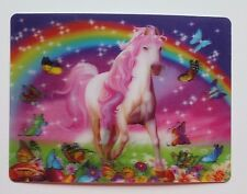 3D Unicorn Horse Fantasy Rainbow Pastel Goth Vintage 1980s Postcard