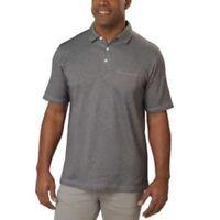 NEW Cypress Club Men's Short Sleeve Polo (GRAY, MEDIUM)