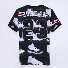 6836f8c0fcc 2017 New Women Men Jordan 23 Letter 3D Print Casual short sleeve T-Shirt