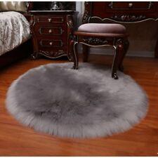 Thicken Faux Fur Wool Cushion Plush Chair Seat Set Pad Carpet Pads Winter Round