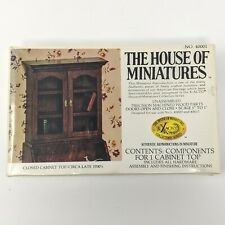 House of Miniatures #40001 Closed Cabinet Top 1700's Kit Wood NEW in BOX