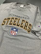 Old School NFL Pittsburgh Steelers Mens Size X-Large  XL Champions T-Shirt