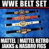 ♥ SET OF 4x WWE CHAMPIONSHIP BELTS FOR MATTEL RETRO FIGURES GÜRTEL HASBRO JAKKS