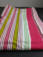 Pottery Barn Standard Pillow Sham Striped Green Burgundy White Blue Wine