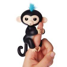 6 funciones Bebé Mono Mascota Interactiva dedo Niños Juguete electrónico brótolas Negro