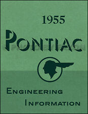 1955 Pontiac Engineering Features Manual - 55 styling and mechanical changes