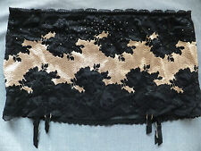 Victorias Secret SMALL *SEXY SEDUCTION* SKIRTED GARTER BELT THONG Black & Taupe
