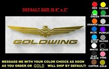 "GOLDWING DECAL, 8"" x 2"", ANY COLOR! honda gl 1800 1500 trike se wing ding gold"