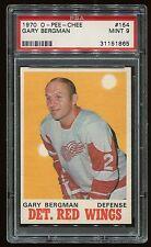 1970 OPC #154 Gary Bergman *Red Wings* PSA 9 MINT Cert #31151865