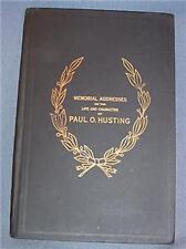 1919 Memorial Addresses Paul Husting Wisconsin Senator