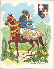 VINTAGE SARDINIA ITALY HORSE GARDEN VEAL PARMIGIANA RECIPE 1 COFFEE POT CAT CARD