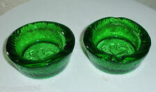 Green art Glass Ash tray's Ashtray Green Rooster Weather Vane Vntg trinket dish