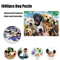 Jigsaw Puzzles 1000 PCS Cat Dog Deer Village Patterns Home For Adult Puzzle W0V3