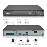 US ANNKE 1080P 4CH 6MP Seucrity NVR Smart Search Network Video Recorder for POE