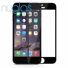 Nuglas Black EDGE to EDGE Tempered Glass Screen Protector Guard For iPhone 6 6S