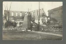 Fort Lupton COLORADO RP 1912 FIRE RUINS Disaster nr Longmont Denver Hudson