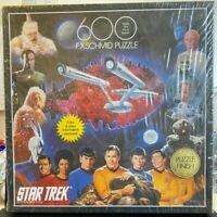 Jigsaw Puzzles-600 Pieces-F.X.Schmid-Star Trek-Games-Family-1993-Vintage-New