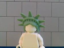 NEW LEGO - 1 x LADY LIBERTY MINIFIGURE SAND GREEN SPIKED TIARA HAIR 98377 -