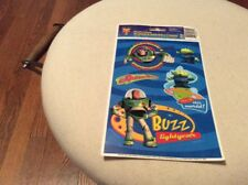 Disney Pixar Toy Story 2 Window Clings Sheet Of 5 Buzz Lightyear And Alien New