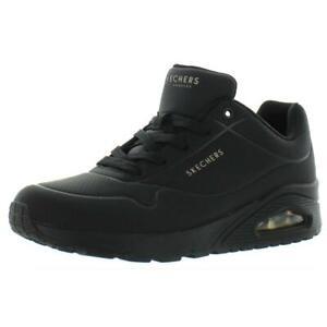 Skechers Womens Uno-Stand On Air Black Fashion Sneakers 10 Medium (B,M) 7767