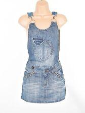 """Blue Denim MISSY'S Straight Pencil Short Mini Overall Skirt Size W31"""" L12"""""""