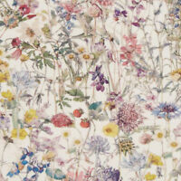 Liberty ~ Wild Flower A Tana Lawn Fabric / quilting dressmaking floral white