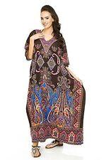 Kaftan free size loose hippy boho kimono sleeves bat wings Dashiki Paisley print