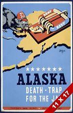 AMERICAN ANTI JAPANESE EMPIRE WORLD WAR II PROPAGANDA POSTER WPA ART PRINT
