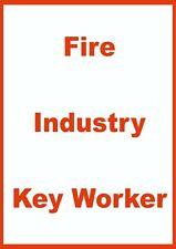 KEY WORKER WINDOW STICKER - FIRE INDUSTRY KEY WORKER