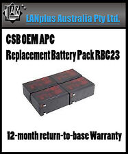 CSB OEM APC Replacement Battery Pack RBC23 SU1000RM2U tax invoiced 1-year wty