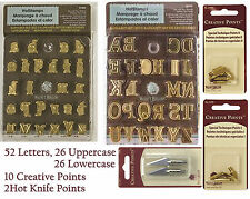 Walnut Hollow Hotstamp Upper & Lower Case Alphabet Sets PLUS 12 Specialty Points